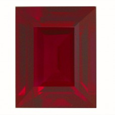 Cushion Synthetic Ruby