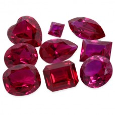 Ruby Synthetic Faceted