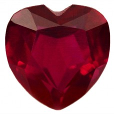 Heart Synthetic Ruby