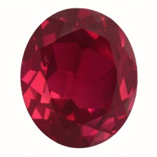 Oval Synthetic Ruby