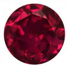 Round Synthetic Ruby
