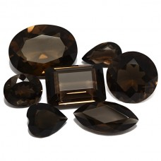 Smoky Quartz Genuine Faceted