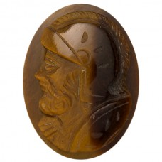 Oval Genuine Tigereye Single Head Cameo