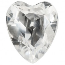 Heart Synthetic White Spinel
