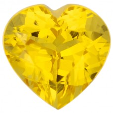 Heart Lab Created Yellow Sapphire