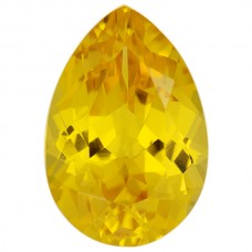 Pear Lab Created Yellow Sapphire
