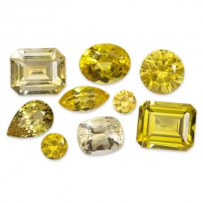 Yellow Sapphire Genuine Faceted